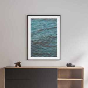blue water ripples photography prints black frame