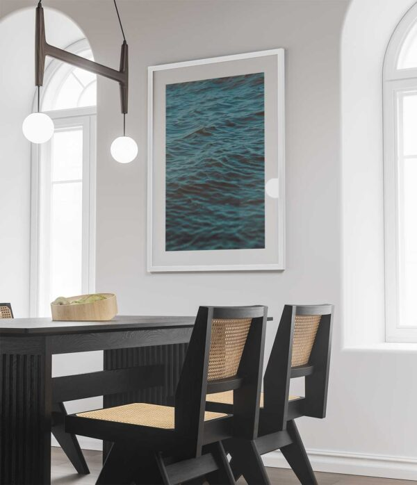 blue water ripples photography prints white frame