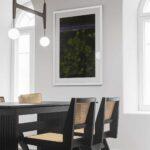 green tree tops photo print norwich white frame