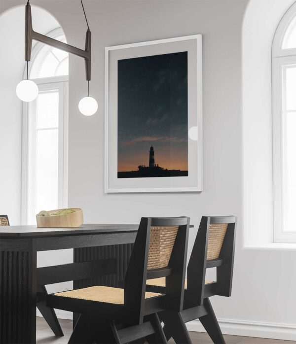 happisburgh lighthouse night sky photo print