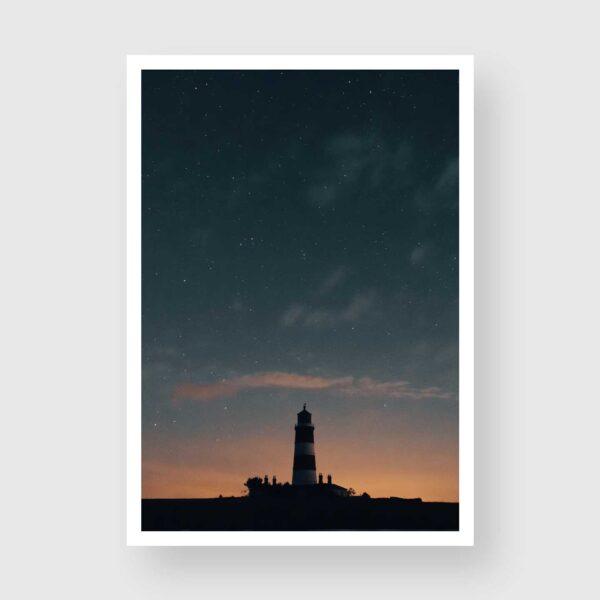 happisburgh lighthouse night sky print