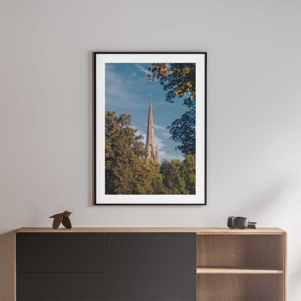 norwich cathedral photo print black frame